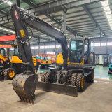 挖掘机 8吨轮式挖掘机 四轮液压轴刹 厂家直销