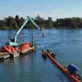 水下配置鋼絲網攔污柵攔污浮筒成果佳