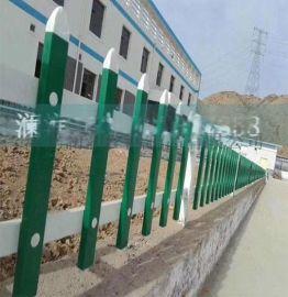 安平尖头镀锌钢管隔离栅栏 蓝白双道梁 直接预埋式栅栏