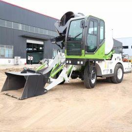 沃特自上料混凝土攪拌車 混泥土移动式运输一体机