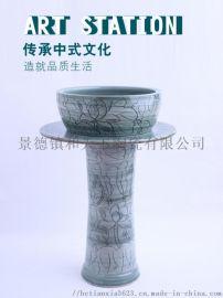 景德镇庭院立柱式洗手盆