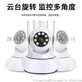 无线智能安防摄像头防盗夜视高清360度远程连手机