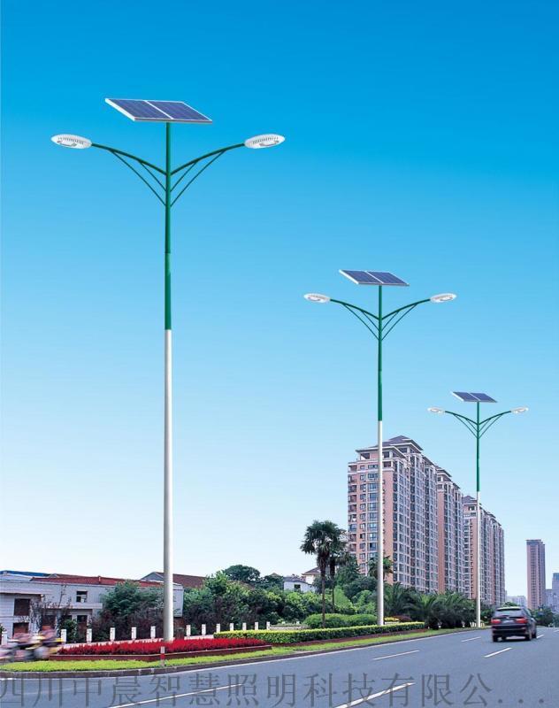 中晨太陽能路燈現貨_熱鍍鋅仿古太陽能路燈