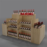 厂家定制红酒木质展示架超市洋酒柜酒庄展架中岛货架精品红酒货架