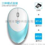 新款T6蓝牙鼠标5.0/3.0/2.4G三模无线鼠标 铝合金充电静音鼠标
