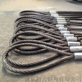 带K锻打扁丝6K-36WS-IWR-36mm钢芯钢丝绳旋挖机专用钢丝绳