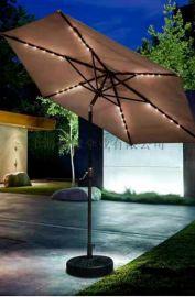 LED户外伞太阳能发电庭院伞LED阳伞制作厂家