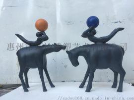 玻璃鋼動物雕塑