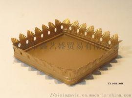 金色首饰化妆品收纳盘,方形
