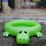 廠家生產PVC鱷魚水池 兒童玩具兩用噴水池
