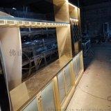 不鏽鋼鈦金酒櫃定製酒店恆溫酒櫃加工