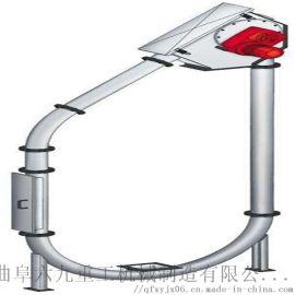 不锈钢输送带钢扣安装 倾斜垂直管链输送机 Ljxy