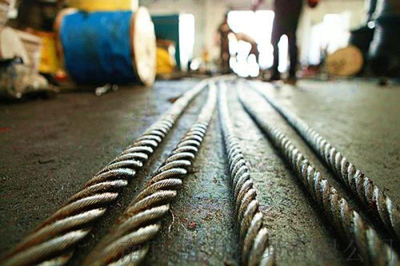 防旋轉鋼絲繩可用在塔吊、起重機等領域