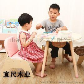 山东儿童房实木玩具桌 多功能儿童益智玩具桌