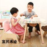 山東兒童房實木玩具桌 多功能兒童益智玩具桌