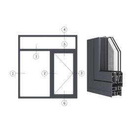 创高GL65W14A系列窗纱一体隔热外平开窗