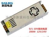 0/1-10V调光驱动电源 防水调光电源 200W LPD-200-24
