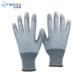 灰PU5级防切割手套