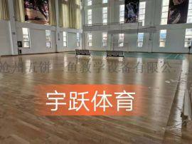 篮球馆专用实木木地板厂家直销品质优良