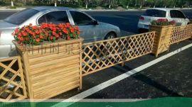 木塑木纹花箱不锈钢花槽--小区户外花箱厂家直销