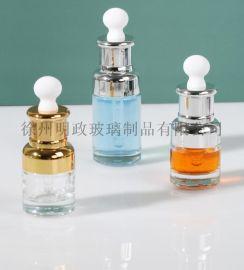 玻璃精油瓶精华液瓶小样瓶化妆品瓶滴管瓶  瓶