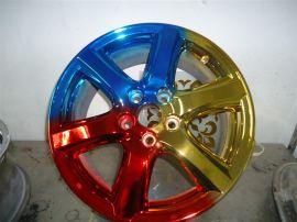 纳米汽车轮毂喷镀加工不锈钢电镀纳米喷镀加工