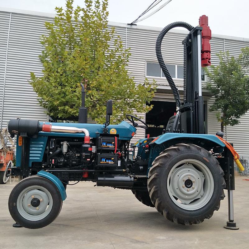 水井钻机厂家 气动潜孔水井钻机 拖拉机式气动钻机