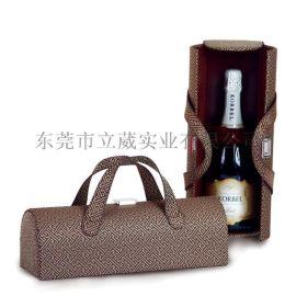 定制红酒盒单/双支酒盒包装PU皮盒红酒箱子定做