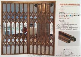304不锈钢异型管金古铜直榄型拉闸门