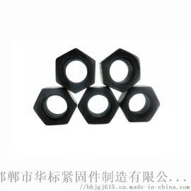 高强度螺母M20外六角螺母氧化发黑