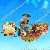 淮安好奇游乐广场升降飞机 大型6座猴子吐泡泡 儿童旋转起伏飞机