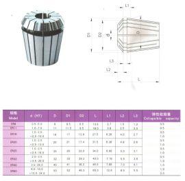 钛浩机械专业生产销售弹性夹头系列ER弹性筒夹