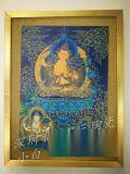 一二三陶瓷属兔的守护佛唐卡手绘瓷板画--文书菩萨