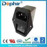 供应带开关的IEC插座式电源滤波器/带1个保险丝和开关滤波器DF102