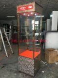 平安銀行展櫃 不鏽鋼銀行獨立展示櫃批量製作