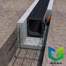定制各种尺寸成品排水沟 一体排水沟 HDPE排水沟盖板