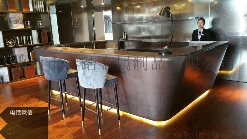 雙曲面不鏽鋼吧檯個性定製異型不鏽鋼收銀臺款式圖片