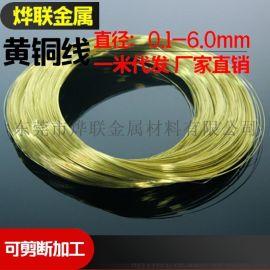 环保H62黄铜扁线H59黄铜丝进口H65黄铜圆线 软线/半硬 0.4~9.8mm