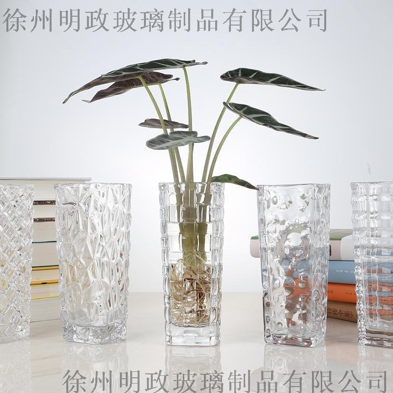 水培绿萝花瓶简约创意玻璃水培植物花盆透明 观音竹插花瓶