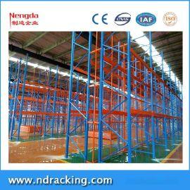 能达货格式重型货架,货架单元2~3货位设计,通用3~4层带安全背网