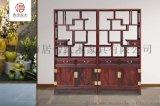 如意博古架-黑酸枝博古架-红木家具