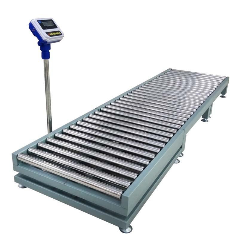 不鏽鋼滾筒電子秤帶滾輪移動式滾筒電子秤可列印時間日期重量品名