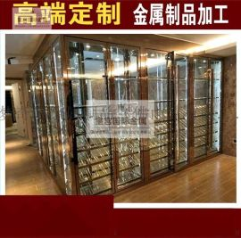 廠家直供不鏽鋼紅酒恆溫酒櫃 酒窖 酒架 珠寶櫃定制