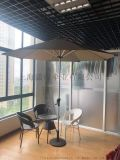 LED太陽能中柱傘、戶外太陽能庭院傘、鋁合金遮陽傘