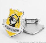 盾形徽章定做金色胸章设计定制公司logo胸针工厂