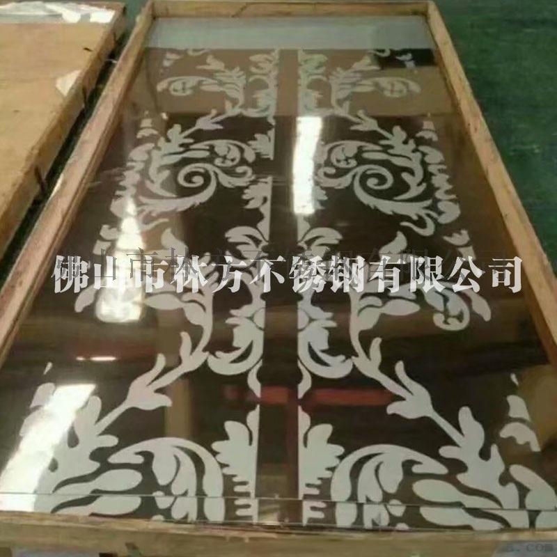 佛山厂家加工真空电镀不锈钢蚀刻板电梯装饰板