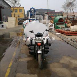 施工小型洒水车,带雾炮能洒水的三轮车