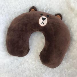 布朗熊U枕 旅行枕 午睡枕 頸枕 枕頭