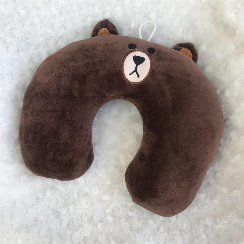 布朗熊U枕 旅行枕 午睡枕 颈枕 枕头