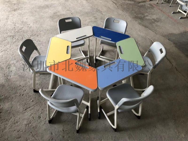 深圳北魏KZY002学校可升降钢木课桌家具